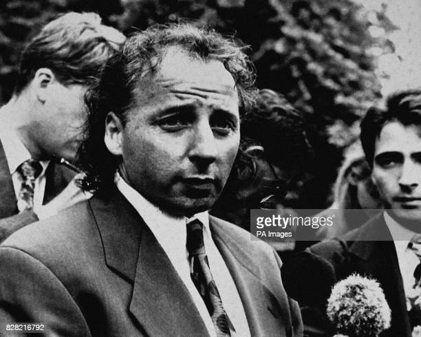 Mickey Thomas leaves after a jury found the former Welsh International star guilty of passing forged banknotes to young soccer apprentices