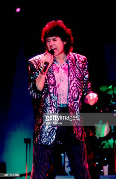 Mickey Thomas of the Jefferson Starship at the Star Plaza Theater in Merrillville Indiana March 7 1986