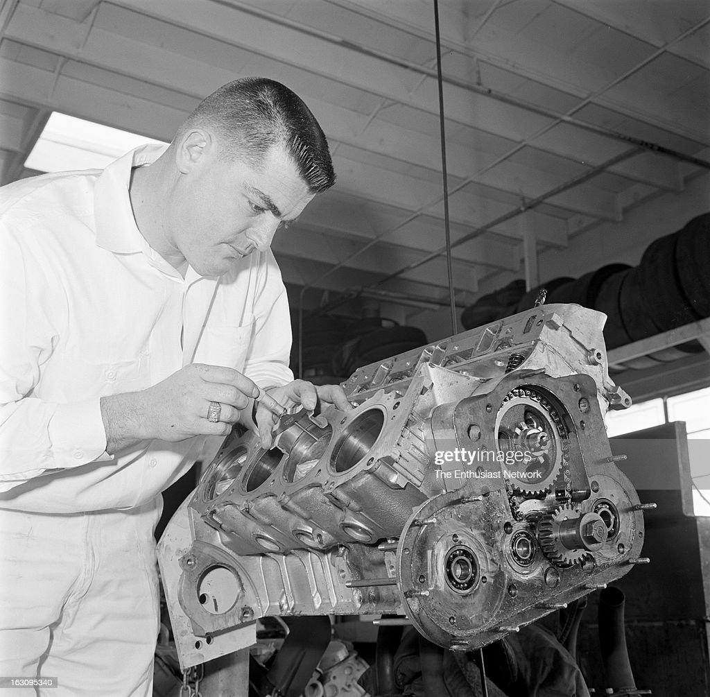 1962 - Mickey Thompson checks tolerances on performance