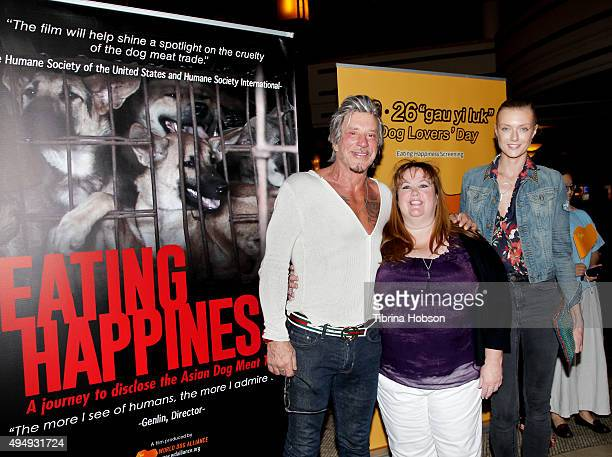 Mickey Warrick Dr Lisa Newell and Anastassija Makarenko attend a screening of 'Eating Happiness' presented by World Dog Alliance at Pacific Theatre...
