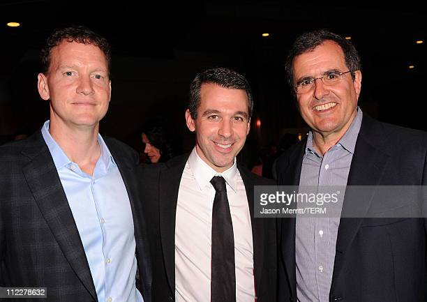 Mickey Weinstock Don Mischer Productions Executive Charlie Hagel and Malaria No More Chairman CoFounder Peter Chernin attend Malaria No More Presents...
