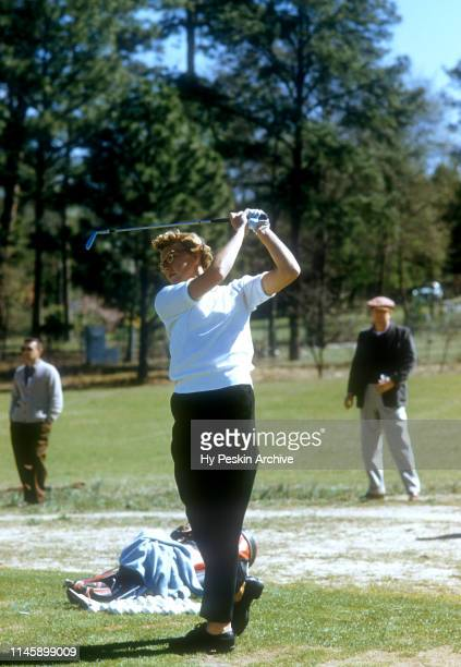 Mickey Wright of the United States practices before the 1956 Titleholders Championship on March 26 1956 at Augusta Country Club in Augusta Georgia