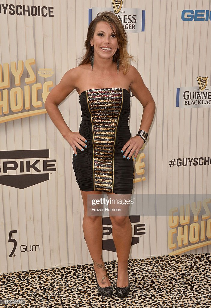 Mickie James attends Spike TV's 'Guys Choice 2013' at Sony Pictures Studios on June 8, 2013 in Culver City, California.