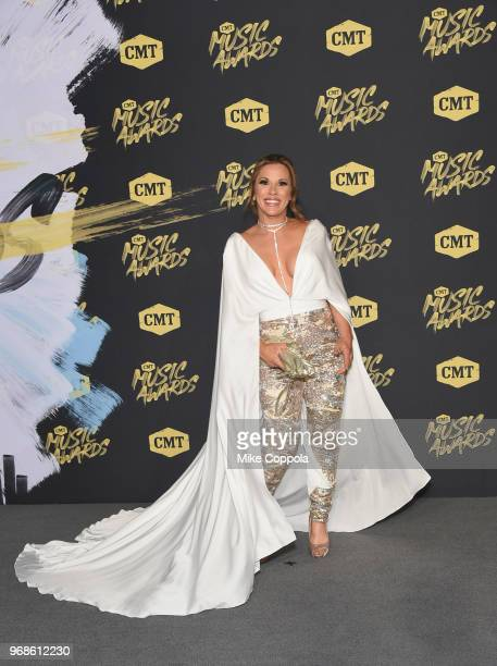 Mickie James attends the 2018 CMT Music Awards at Bridgestone Arena on June 6 2018 in Nashville Tennessee
