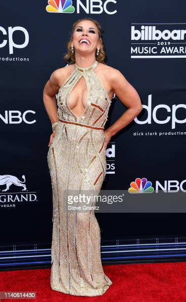 Mickie James attends the 2019 Billboard Music Awards at MGM Grand Garden Arena on May 1 2019 in Las Vegas Nevada
