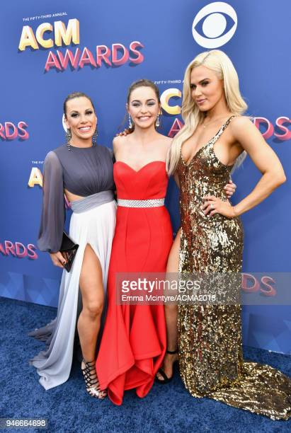 Mickie James Kaylin Roberson and Lana attend the 53rd Academy of Country Music Awards at MGM Grand Garden Arena on April 15 2018 in Las Vegas Nevada