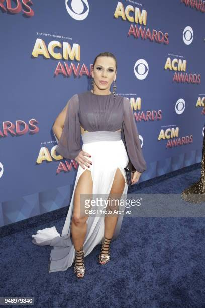 Mickie James walks the red carpet at the 53RD ACADEMY OF COUNTRY MUSIC AWARDS live from the MGM Grand Garden Arena in Las Vegas Sunday April 15 2018...