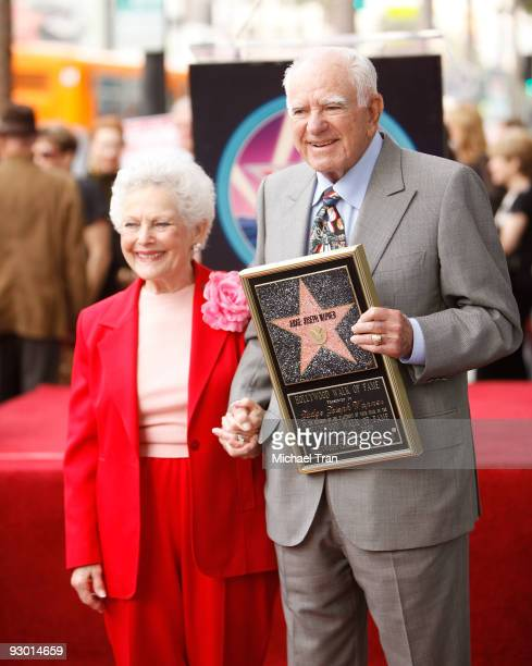 Mickie Wapner and Judge Joseph A. Wapner attend his 90th Birthday celebration and honoring him with a Star on The Hollywood Walk of Fame held on...