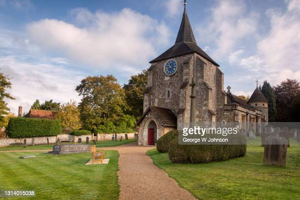 mickleham church i - religious service stock pictures, royalty-free photos & images