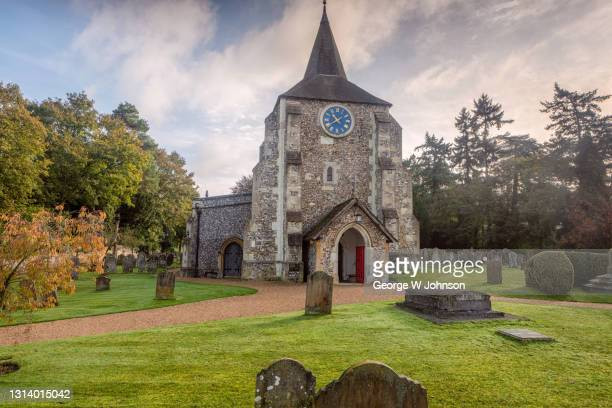 mickleham church ii - religious service stock pictures, royalty-free photos & images