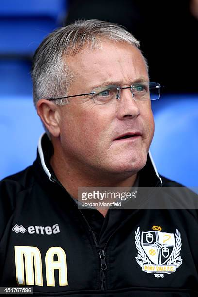 Micky Adams manager of Port Vale looks on ahead of the Sky Bet League One match between Peterborough United and Port Vale at London Road Stadium on...