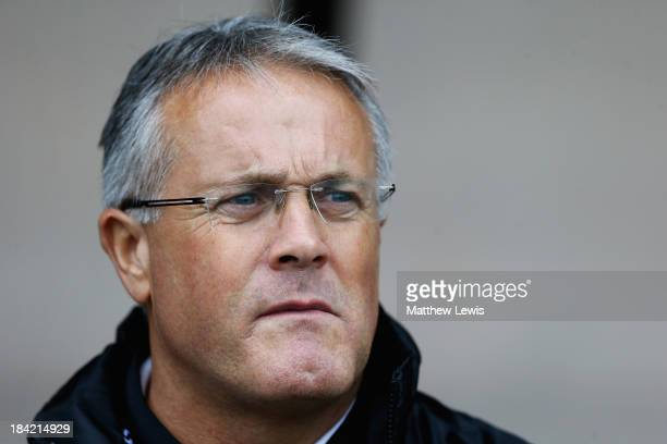 Micky Adams manager of Port Vale looks on during the Sky Bet League One match between Port Vale and Peterborough United at Vale Park on October 12...