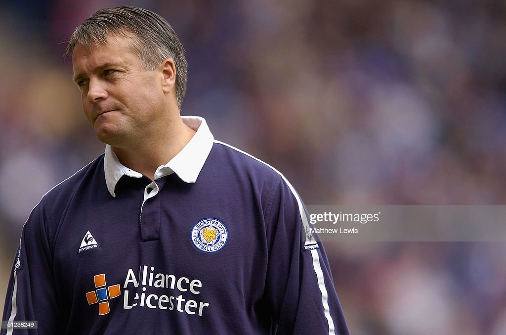 Micky Adams, the Leicester manager, shows his disappointment after losing during the Coca-Cola Championship match between Leicester City and Brighton and Hove Albion at the Walkers Stadium on August 30, 2004 in Leicester, England.