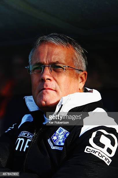 Micky Adams the Tranmere Rovers manager looks on during the Sky Bet League Two match between AFC Wimbledon and Tranmere Rovers at The Cherry Red...