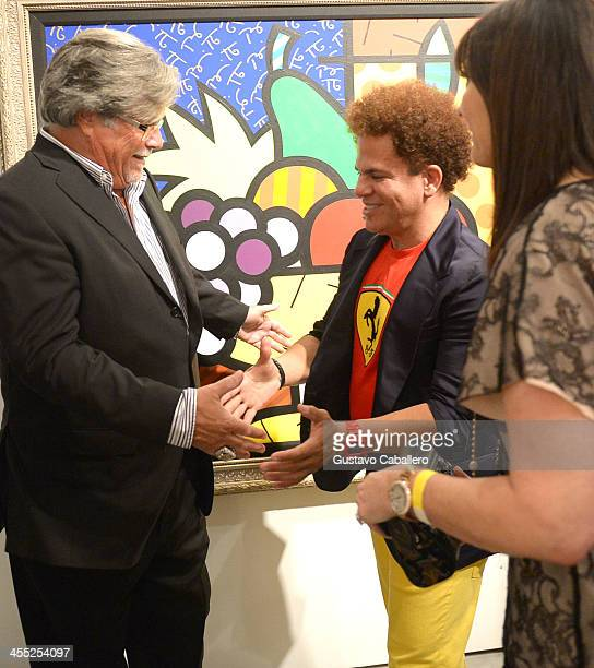 Micky Arison Artist Romero Britto and Madeleine Arison attend Britto Central Gallery's 20th Anniversary Celebration on December 11 2013 in Miami...