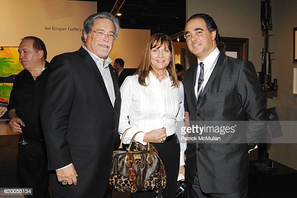 Micky Arison Madeleine Arison and Mathias Rastorfer attend GALERIE GMURZYNSKA at Art Basel Miami Beach 2008 at Miami Beach Convention Center on...