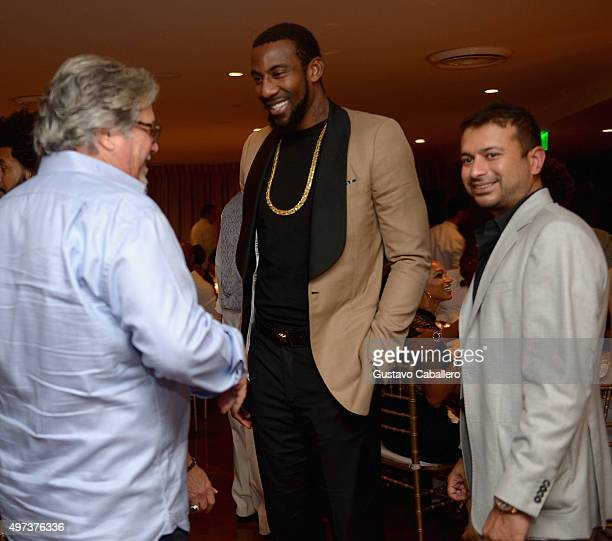 Micky ArisonKamal Hotchandan attends the Haute Living Celebrates Amar'e Stoudemire's Birthday at Cipriani Downtown Miami on November 15 2015 in Miami...