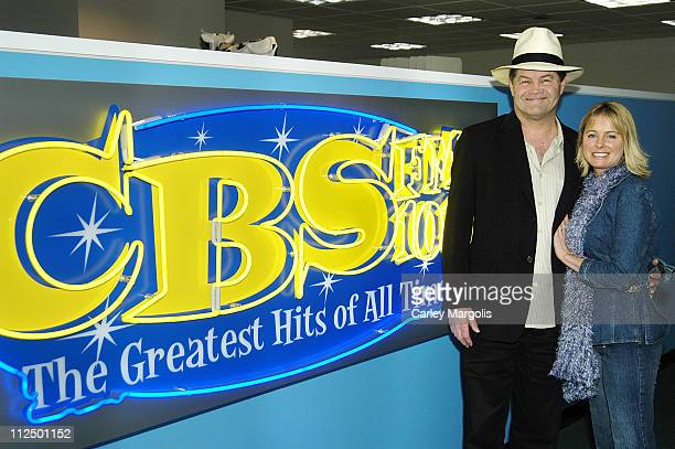 Micky Dolenz and Ami Dolenz during Ami Dolenz Visits Her Father's Radio Show 'Micky Dolenz in the Morning' May 2 2005 at CBS FM Studios and Times...