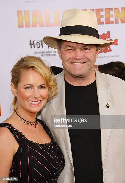 Micky Dolenz and daughter Ami Dolenz arrives at the Halloween Los Angeles Premiere at Grauman's Chinese Theater on August 23 2007 in Hollywood...