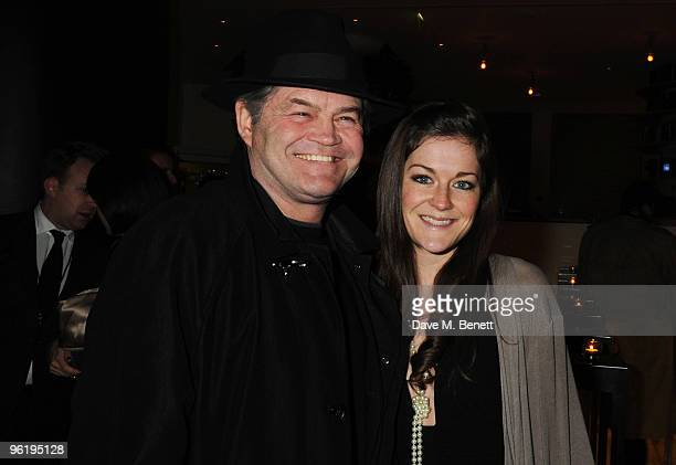 Micky Dolenz and daughter attend the afterparty following the press night of 'Enron' at Asia de Cuba in St Martins Lane Hotel on January 26 2010 in...