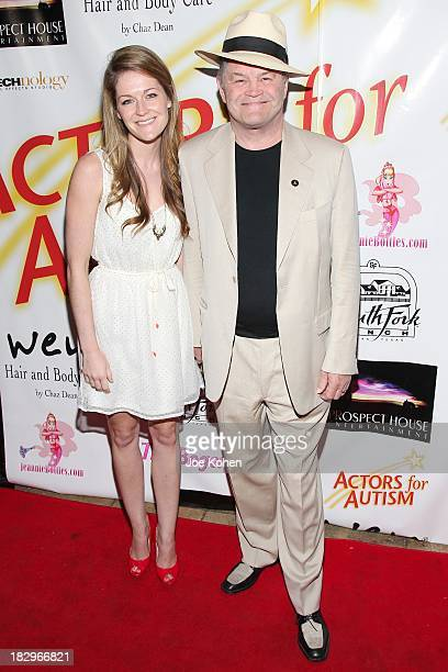 Micky Dolenz and daughter Georgia Dolenz attend Actors For Autism presents reach for the stars Honoring Joe Mantegna at Rockwell on October 2 2013 in...