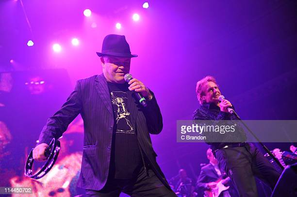 Micky Dolenz and Davy Jones of The Monkees performs on stage at Royal Albert Hall on May 19 2011 in London United Kingdom
