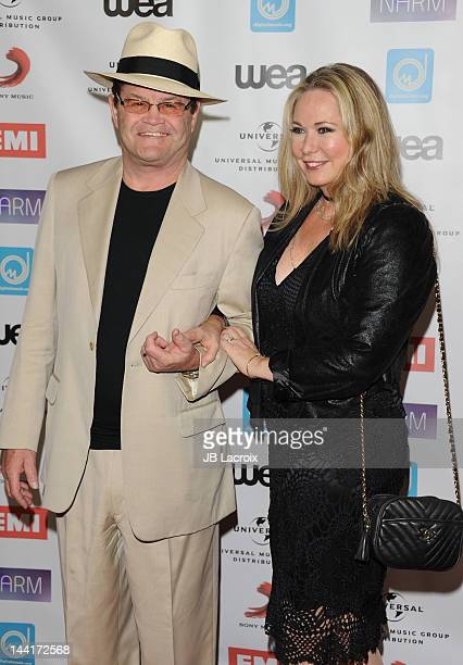 Micky Dolenz and Donna Quinter arrive at the NARM Music Biz Awards Dinner Party held at the Hyatt Regency Century Plaza on May 10 2012 in Century...
