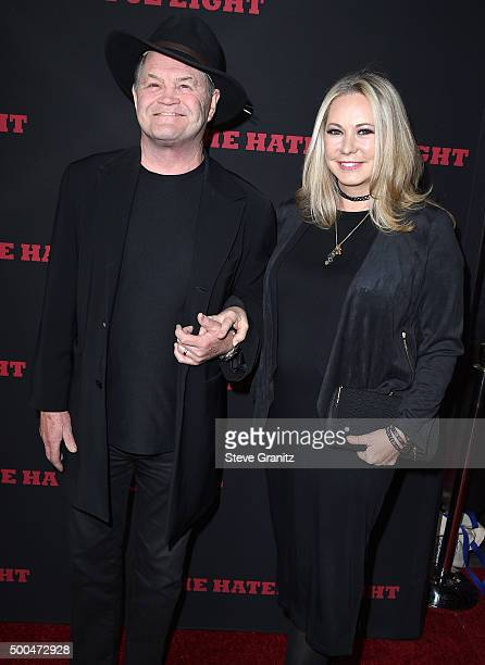 Micky Dolenz and Donna Quinter arrives at the Premiere Of The Weinstein Company's The Hateful Eight at ArcLight Cinemas Cinerama Dome on December 7...