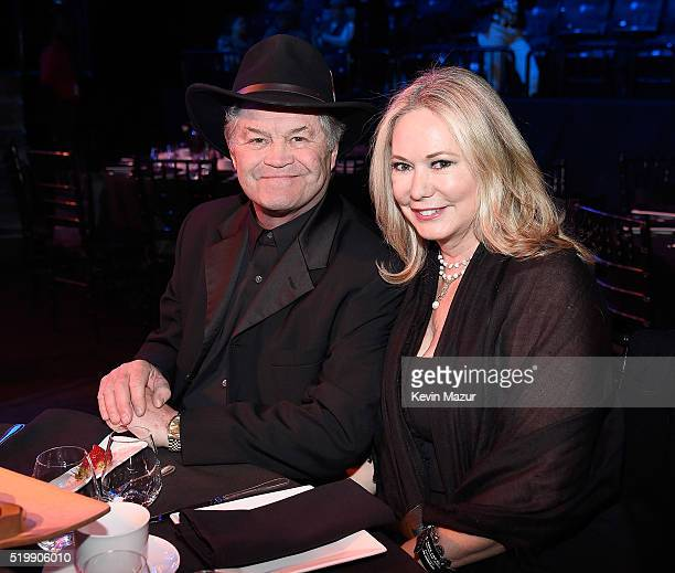 Micky Dolenz and Donna Quinter attend 31st Annual Rock And Roll Hall Of Fame Induction Ceremony at Barclays Center of Brooklyn on April 8 2016 in New...