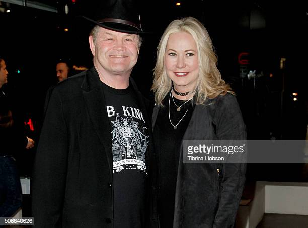 Micky Dolenz and Donna Quinter attend Billy Zane's opening night reception for his debut photo exhibit at Leica Gallery Los Angeles on January 23...