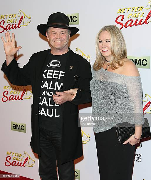 Micky Dolenz and Donna Quinter attend the Better Call Saul Los Angeles Series Premiere Screening held at Regal Cinemas LA Live on January 29 2015 in...