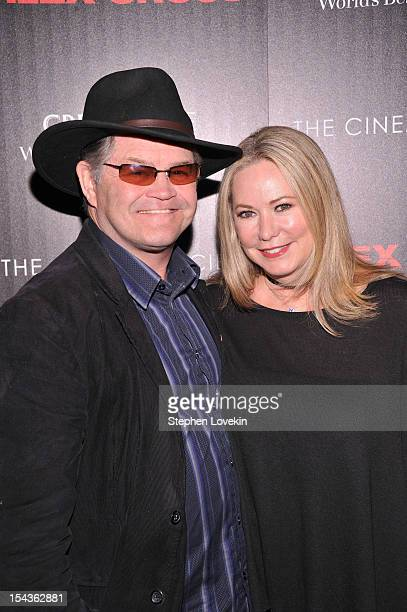 Micky Dolenz and Donna Quinter attend The Cinema Society Grey Goose Host A Screening Of Alex Cross at Tribeca Grand Hotel on October 18 2012 in New...