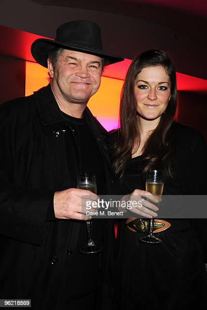 Micky Dolenz and his daughter Georgia Dolenz attend the afterparty following the cast change of 'Waiting For Godot' at the Haymarket Hotel on January...