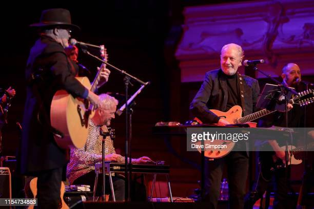 Micky Dolenz and Michael Nesmith perform on stage as part of their The Monkees Present the Mike and Micky Show on June 09 2019 in Auckland New Zealand