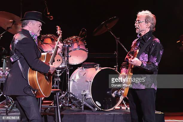 Micky Dolenz and Peter Tork of The Monkees perform in concert at Harrah's Resort on October 28 2016 in Atlantic City New Jersey