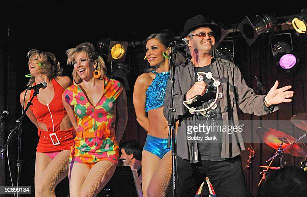 Micky Dolenz and the GoGo Dancers attend Rockers on Broadway Celebrating The 60's at BB King Blues Club Grill on November 2 2009 in New York City