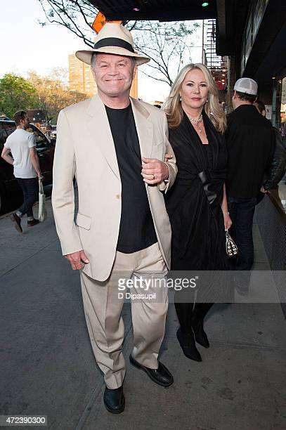 Micky Dolenz and wife Donna Quinter attend the New York premiere of The D Train at Landmark Sunshine Cinema on May 6 2015 in New York City