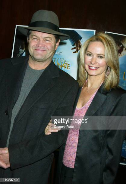 Micky Dolenz and wife Donna Quinter during A Special Screening of Lemony Snicket's A Series Of Unfortunate Events Inside Arrivals at Clearview...