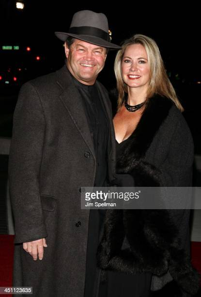 Micky Dolenz and wife Donna Quinter during Finding Neverland New York Premiere Outside Arrivals at The Brooklyn Museum in New York City New York...