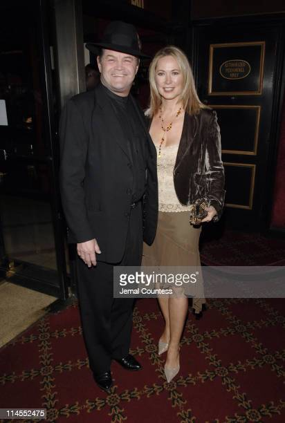 Micky Dolenz and wife Donna Quinter during Jarhead New York City Premiere Inside Arrivals at Ziegfeld's in New York City New York United States