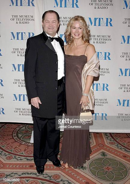 Micky Dolenz and wife Donna Quinter during Merv Griffin Honored at the Museum of Television and Radio's Annual Gala at Waldorf Astoria Grand...