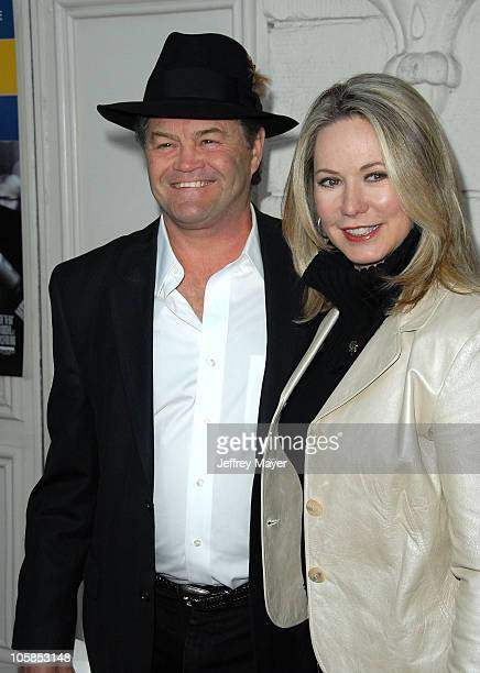 Micky Dolenz and wife Donna Quinter during The Hoax Los Angeles Premiere Arrivals at Mann's Festival Theatre in Westwood California United States