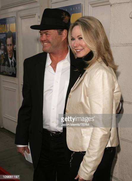 Micky Dolenz and wife Donna Quinter during The Hoax Los Angeles Premiere Red Carpet at Mann Festival in Westwood California United States