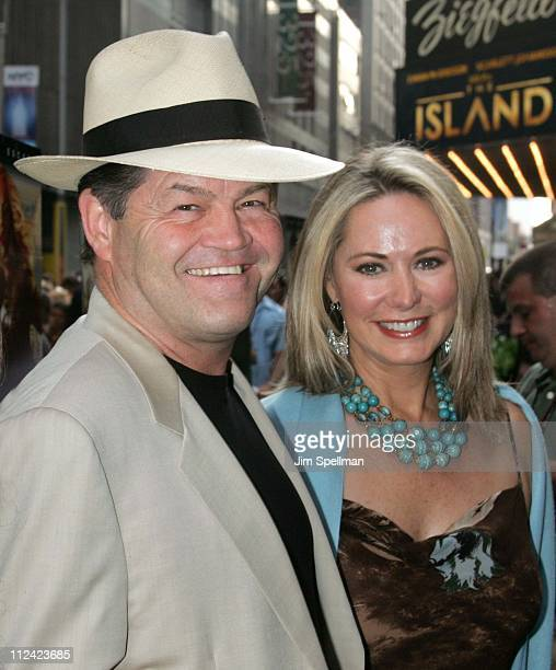 Micky Dolenz and wife Donna Quinter during The Island New York City Premiere Outside Arrivals at Ziegfeld Theater in New York City New York United...