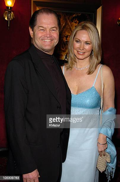 Micky Dolenz and wife Donna Quinter during Troy New York Premiere Inside Arrivals at Zeigfeld Theater in New York City New York United States