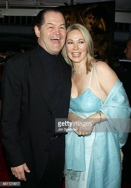 Micky Dolenz and wife Donna Quinter during Troy New York Premiere Outside Arrivals at Ziegfeld Theater in New York City New York United States