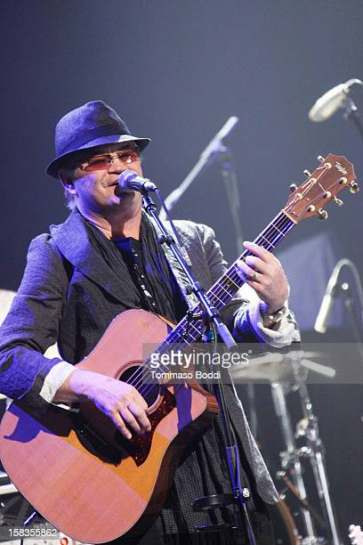 Micky Dolenz of the Monkees performs with the KLOS All Star Band at the 955 KLOS Christmas Show held at Nokia Theatre LA Live on December 13 2012 in...