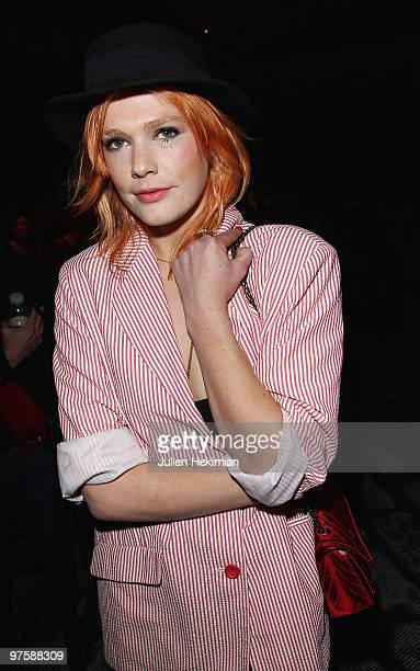 Micky Green attends the JeanCharles de Castelbajac Ready to Wear show as part of the Paris Womenswear Fashion Week Fall/Winter 2011 at Le Carrousel...