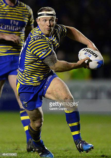 Micky Higham of Warrington Wolves in action during the World Club Series match between Warrington Wolves and St George Illawarra Dragons at The...