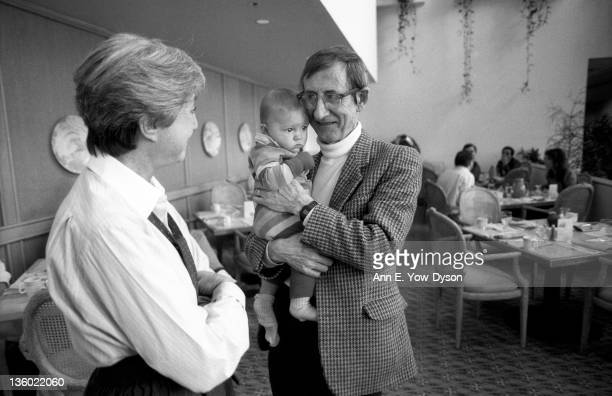 Micky Kaplan Lauren Dyson and Freeman Dyson from the Institute for Advanced Study talk at the annual PC Forum Tucson Arizona 1990